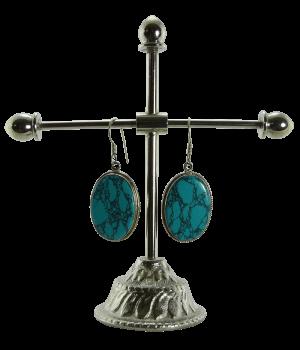 Silber-Ohrring mit Türkis