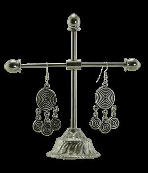 Silber-Ohrringe, Spirale