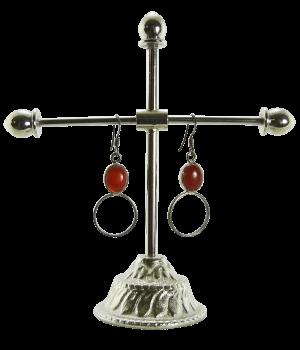 Silber-Ohrring mit Karneol