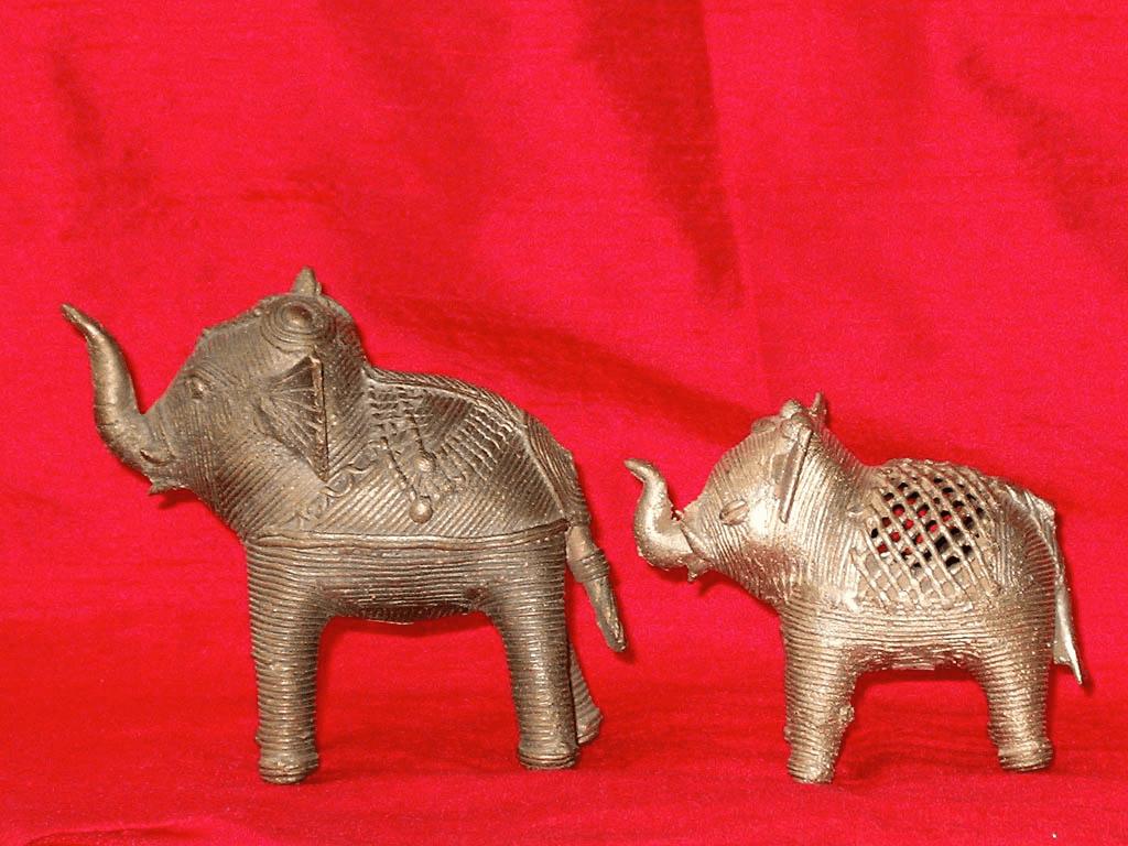 Dhokra-Elefanten