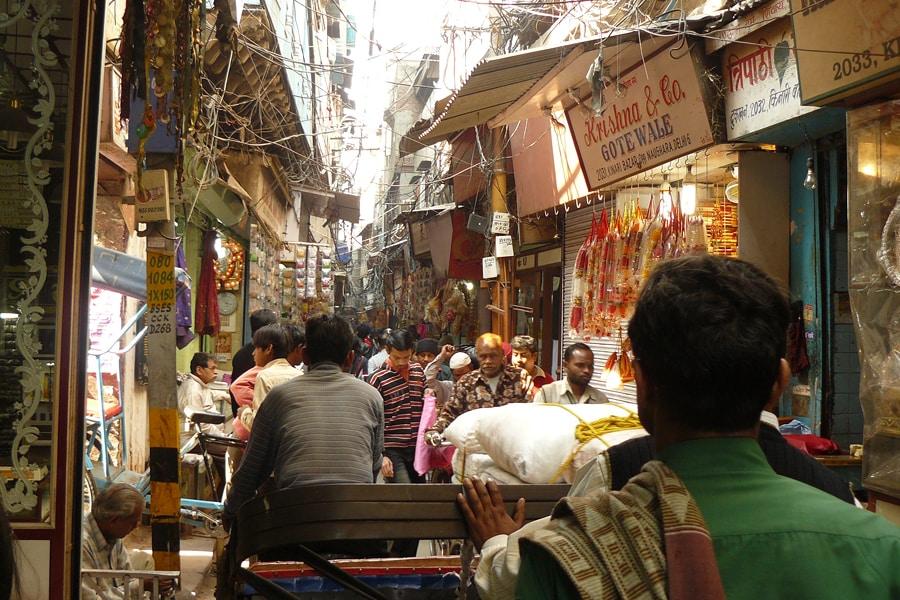 Einkauf in Old Delhi