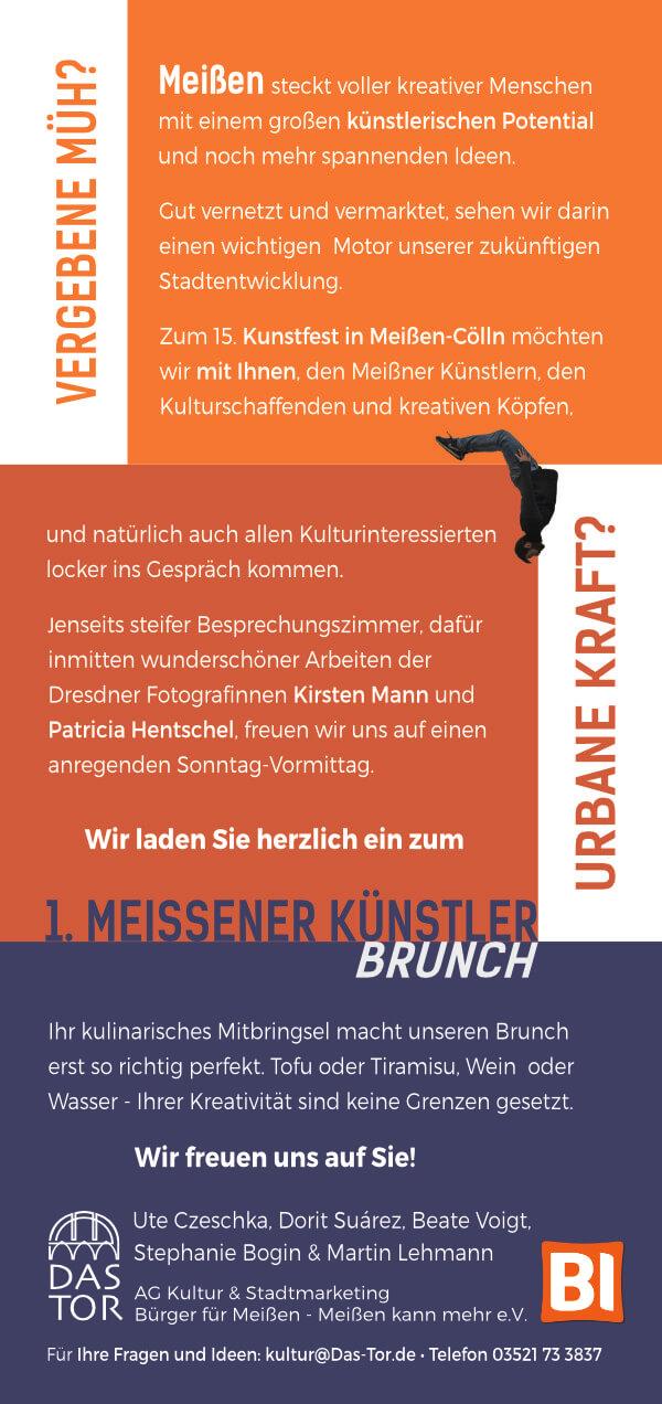"""Künstlerbrunch Meißen zum Kunstfest Meißen-Cölln 2019, """"Das Tor"""""""